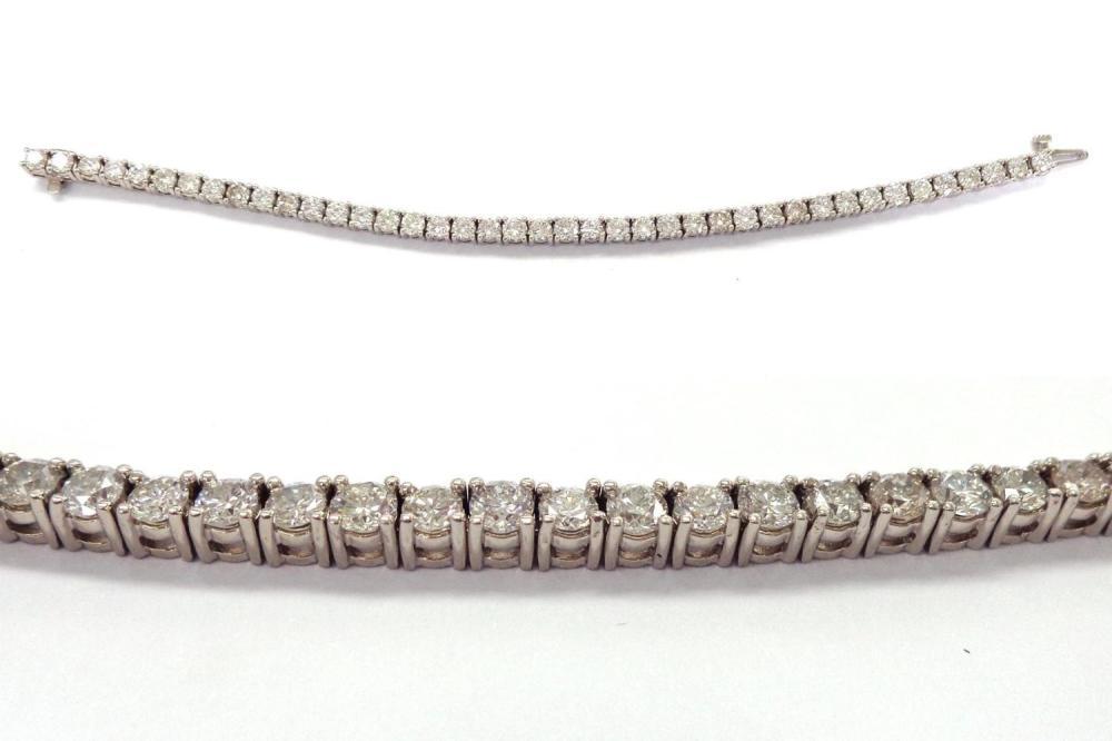 Diamond 'tennis' bracelet 9.24 carats