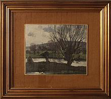 Edouard Chappel, Lo stagno con neve, 1910