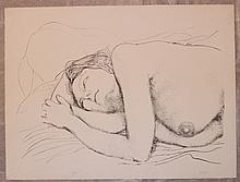 Guttuso Renato, Donna sul cuscino, 1976
