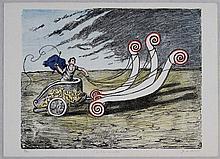 Giorgio De Chirico, La biga invincibile 2^ versione, 1969