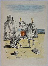 Giorgio De Chirico, I cavalli di Perseo 2^ versione, 1972
