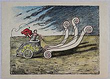 Giorgio De Chirico, La biga invincibile, 1969