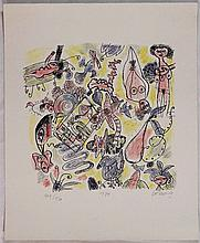 Guillaume Corneille, Litografia a colori, 1974