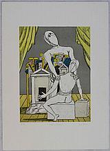 Giorgio De Chirico, Oreste e Pilade 1^ versione, 1970