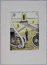 Giorgio De Chirico, L'ospite dei bagnanti misteriosi, 1969