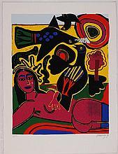 Guillaume Corneille, Femme rose, 1988
