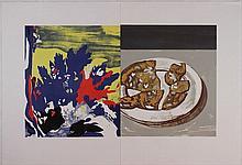 David Salle, Salami with landscape, 2002