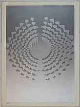 Enrico Castellani, Serigrafia a colori, 1972