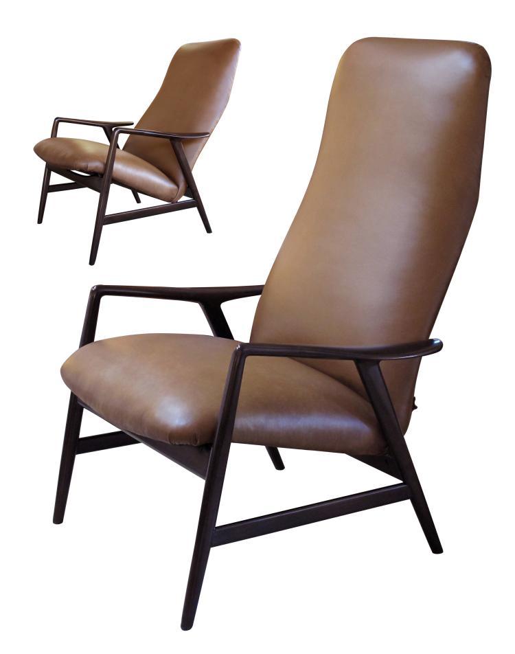 Danish modern lounge chair by alf svenson for fritz hansen for Stylish lounge