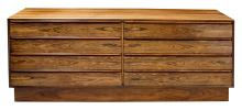 A sophisticated Norwegian 1960's rosewood 8-drawer chest by Westnofa of Norway (labeled)
