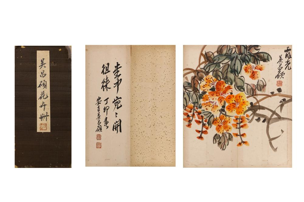 CHINESE INK AND COLOR PAINTING ALBUM OF FLOWERS