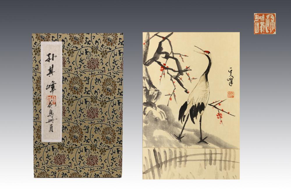 CHINESE INK AND COLOR PAINTING ALBUM OF BIRDS