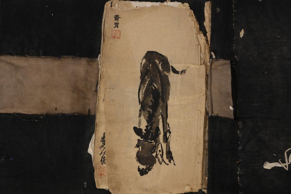 CHINESE INK PAINTING ALBUM OF DONKEYS