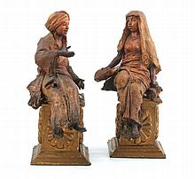 TERRA COTTA PAIR OF BIBELOTS
