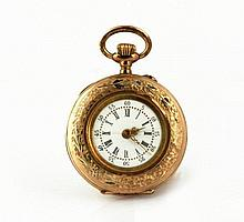 GOLD WOMAN POCKET WATCH