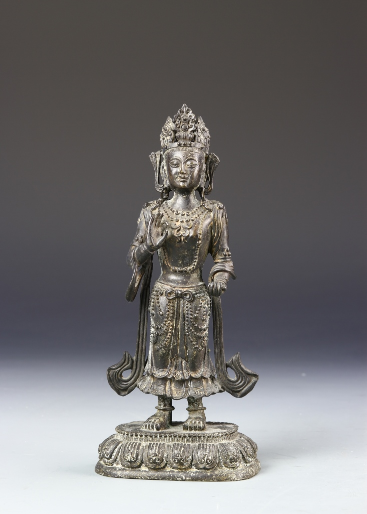 Chinese bronze standing buddha for Buddha decorations for the home uk
