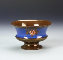 Copper Luster Bowl With Blue Band
