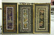 Four Chinese Framed Silk Embroidery Art