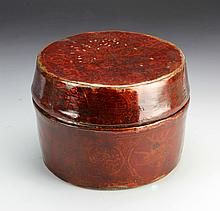 Chinese Red Lacquered Court Necklace Box