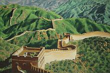Chinese Silk-Woven Art of The Great Wall