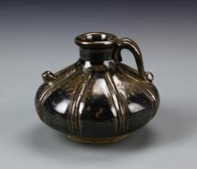 Chinese Black Glazed Wine Pot