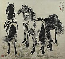 Chinese Scroll Painting, Attributed to Xu Beihong