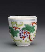 Chinese Wucai Wine Cup