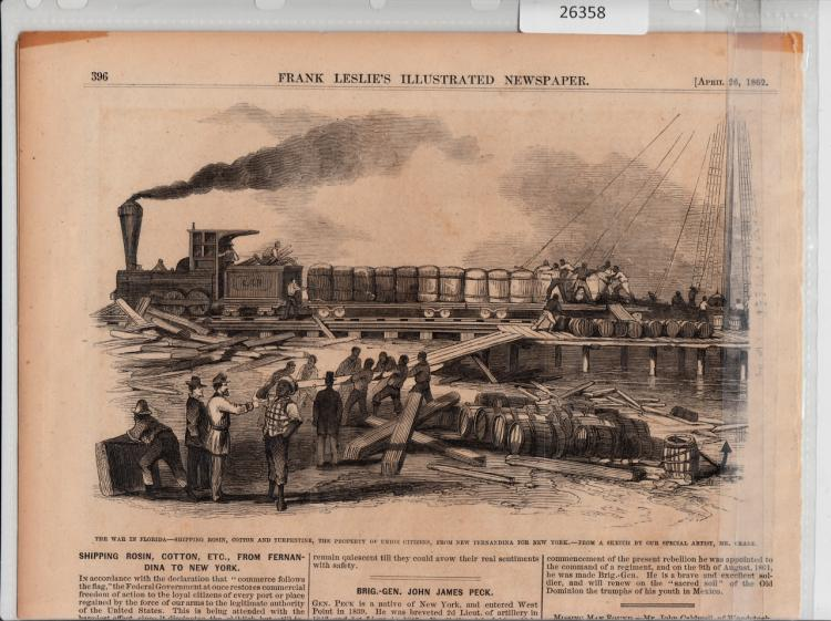 Illustrated Newspaper of Shipping Cotton