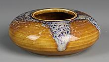 Chinese Brown-Glazed Brush Pot