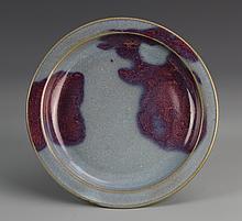 Chinese Jun Ware Plate