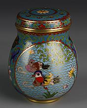 Chinese Cloisonne Cricket Jar