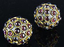 Chinese Stone-Inlaid Balls