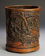 Chinese Bronze Brush Pot