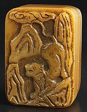 Three Chinese Soap Stone Seal Chops
