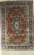 Antique Chinese Silk Carpet