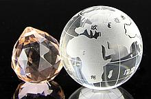 Two Chinese Crystal Pieces