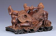 Chinese Carved Wood Man