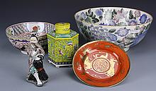 Five Chinese Porcelain Items