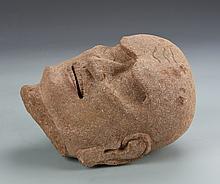 Chinese Sandstone Buddha Head