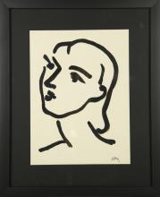 Henri Matisse Watercolor On Paper.