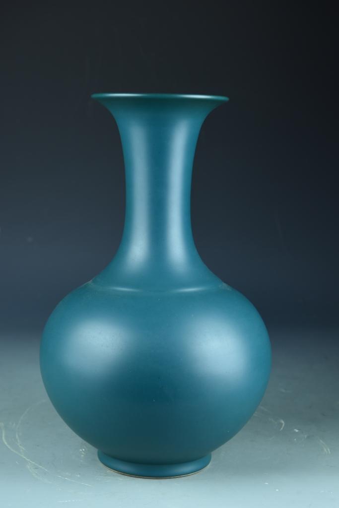 Chinese Dark Blue Vase