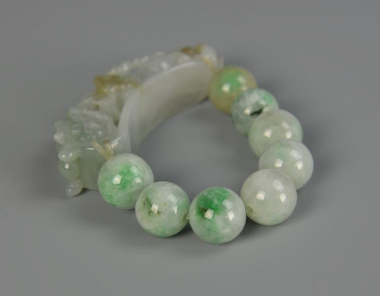 Chinese Jadeite Dragon Hook