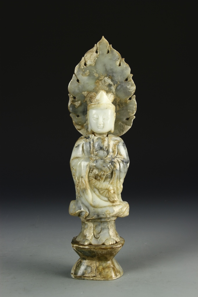 Chinese Jade Guanyin Statue