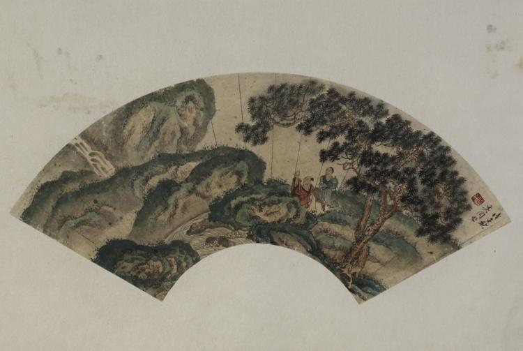 Chinese Fan Painting Attributed to Zhou Xin