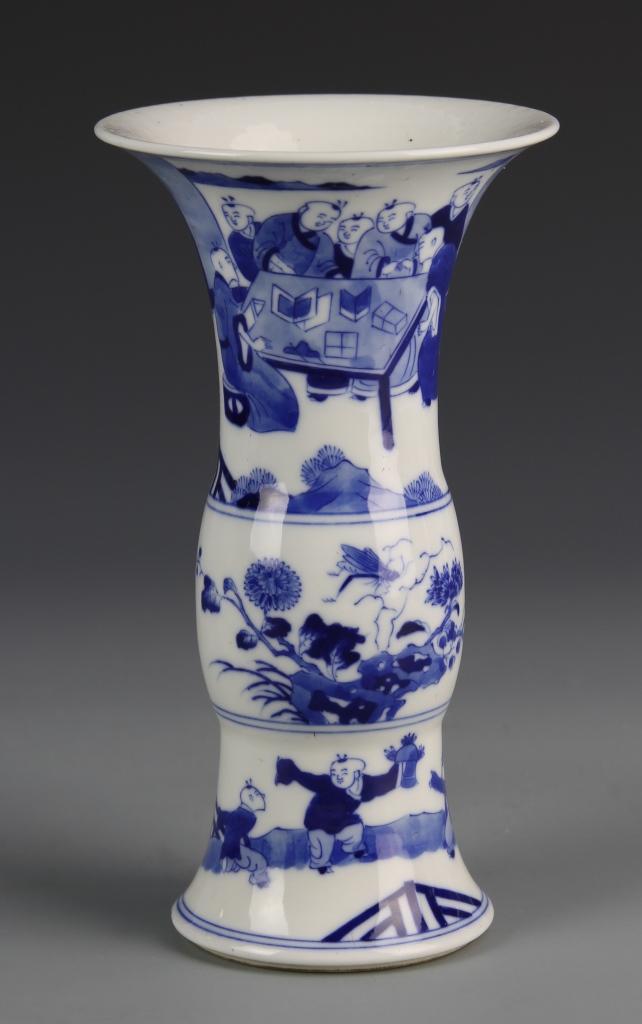Chinese Blue and White Gu Vase