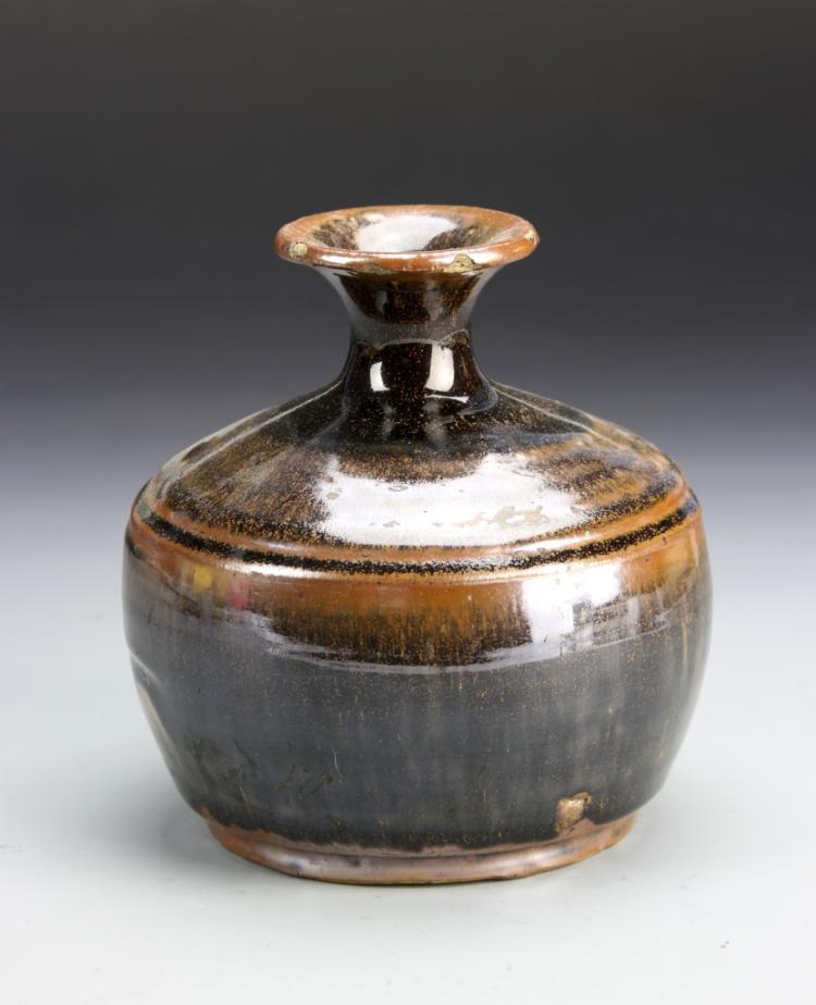 Chinese Black Glazed Jar
