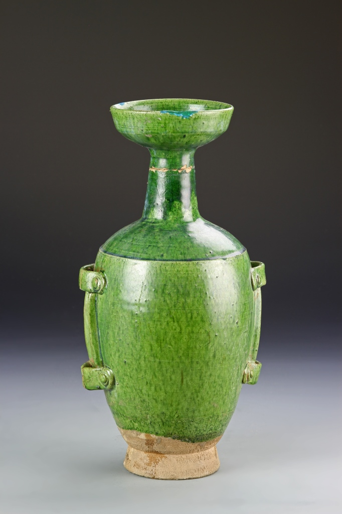 Chinese Liao Green Glazed Ewer