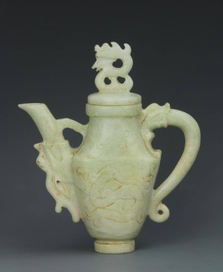 Chinese Jade Wine Pot
