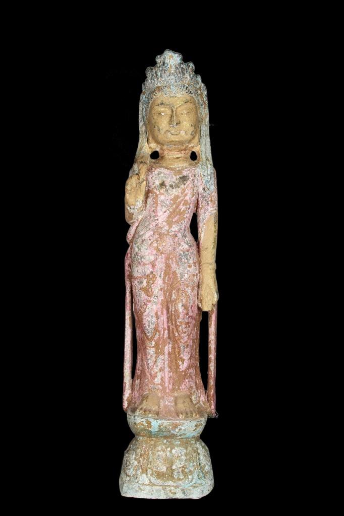 Chinese Stone Guanyin Statue