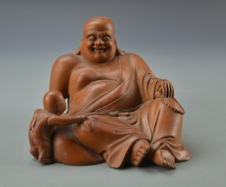 Chinese Vintage hardwood Buddha